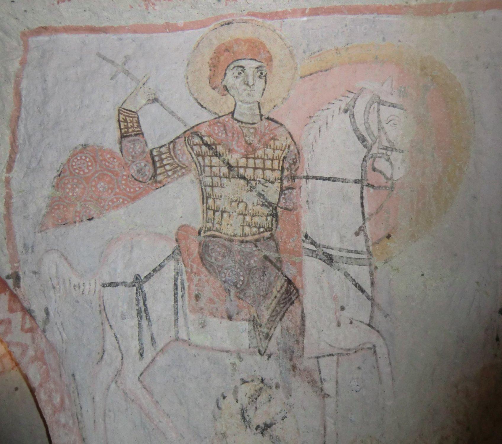 Fresko in der Basilius geweihten Kapelle im Kirchental in Göreme