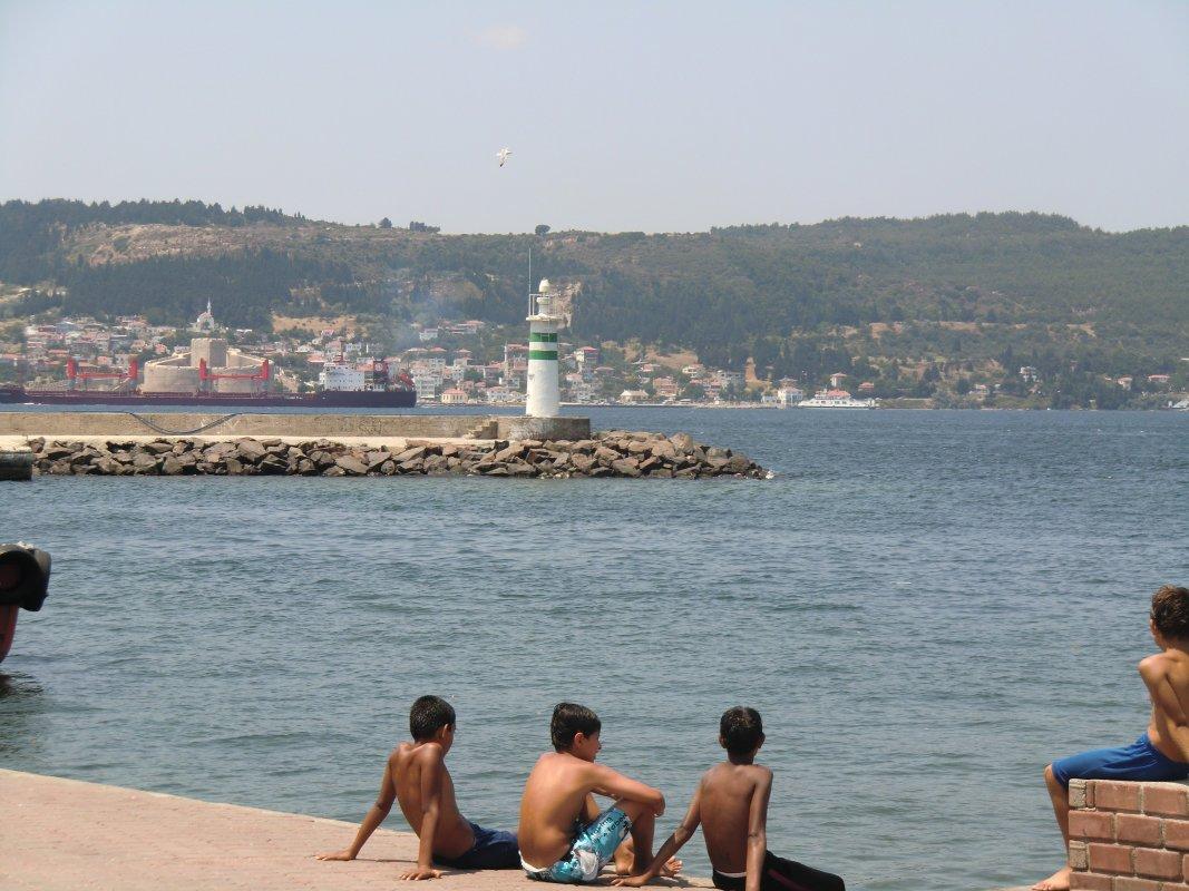 Die engste Stelle der Dardanellen in Çanakkale