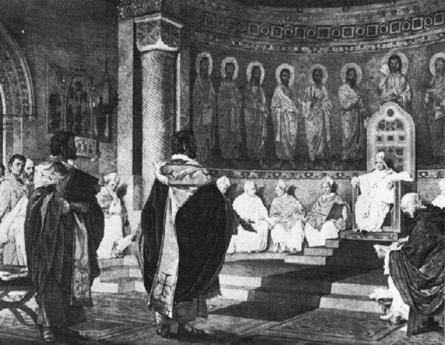 Nobili: Cyrillus und Methodius vor Papst Hadrian II.