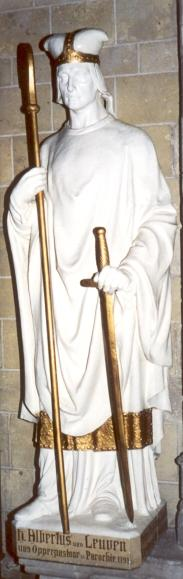 Statue, um 1850, in der Germanuskirche in Tienen