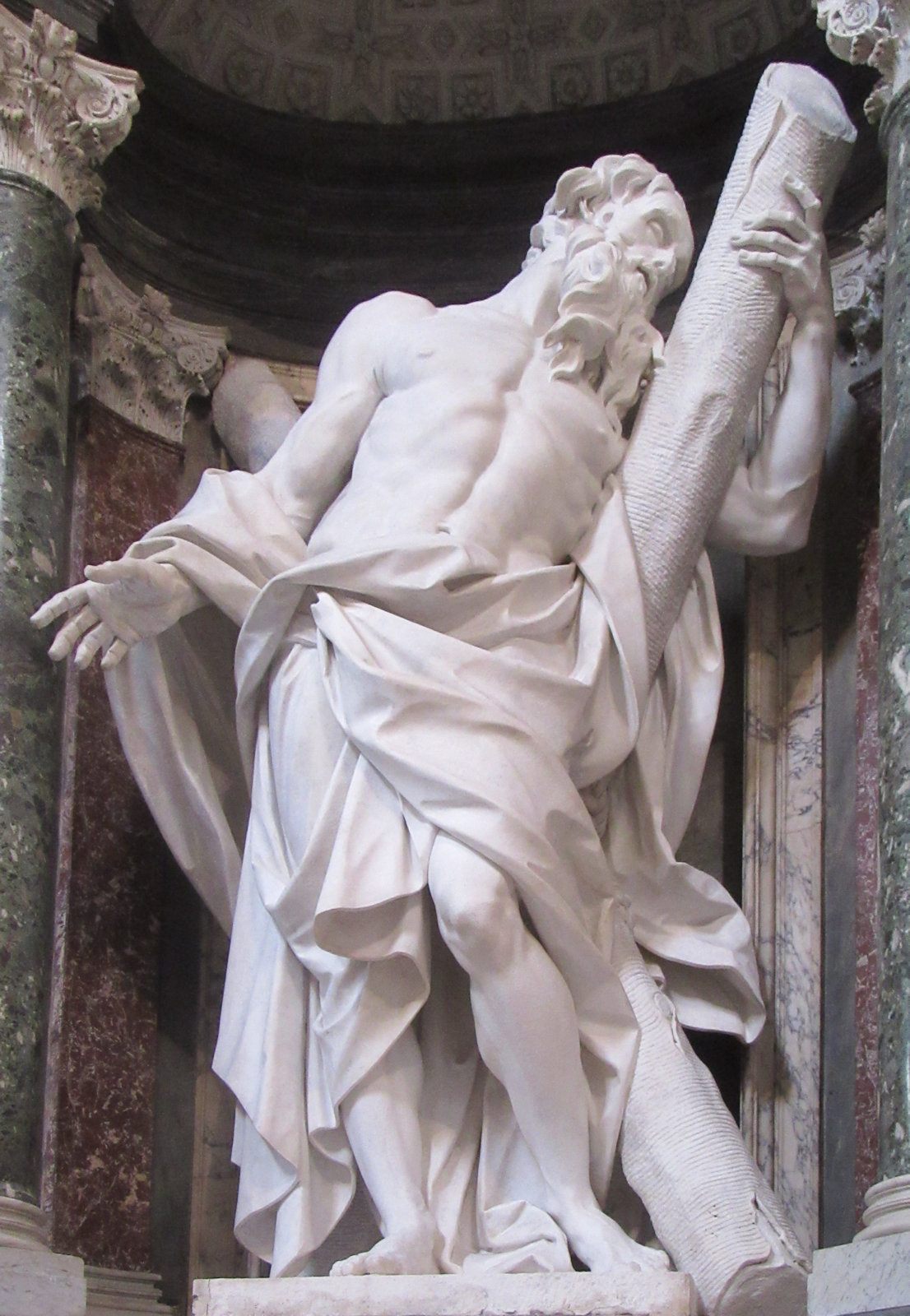 Camillo Rusconi: Statue, 1705 - 1711, in der Basilika San Giovanni in Laterano in Rom
