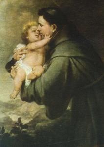 Bartolomé Esteban Murillo: Antonius mit dem Jesuskind (Ausschnitt), 1670, in der Gemäldegalerie in Berlin