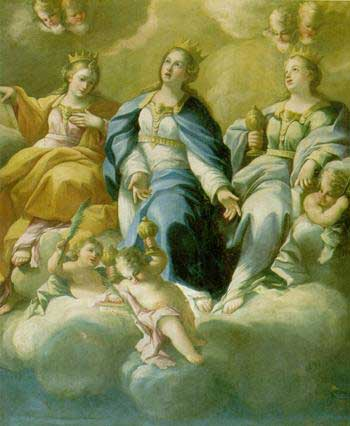 Francesco Solimena: Fresko, 1675, im Kloster St. Georg in Salerno