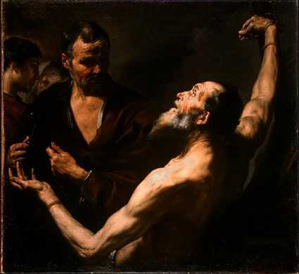 Jusepe de Ribera: Martyrium des Heiligen Bartholomäus, 1634, National Gallery of Art in Washington
