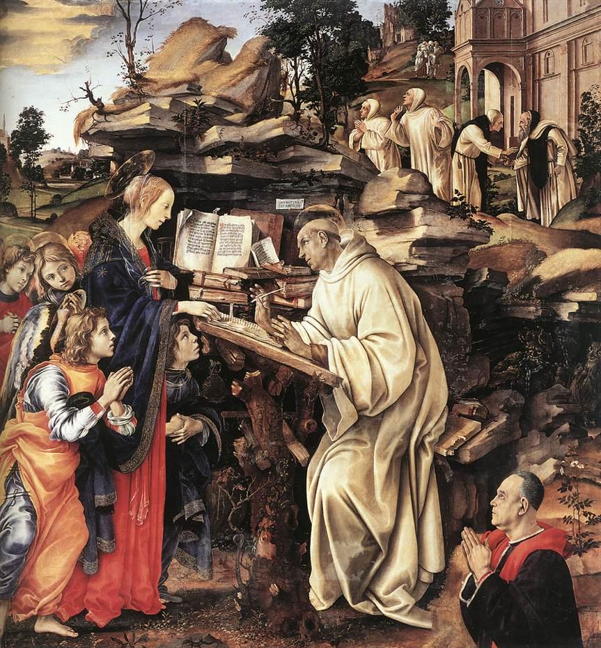Filippino Lippi: Maria erscheint Bernhard, 1486, in der Badia-Kirche in Florenz