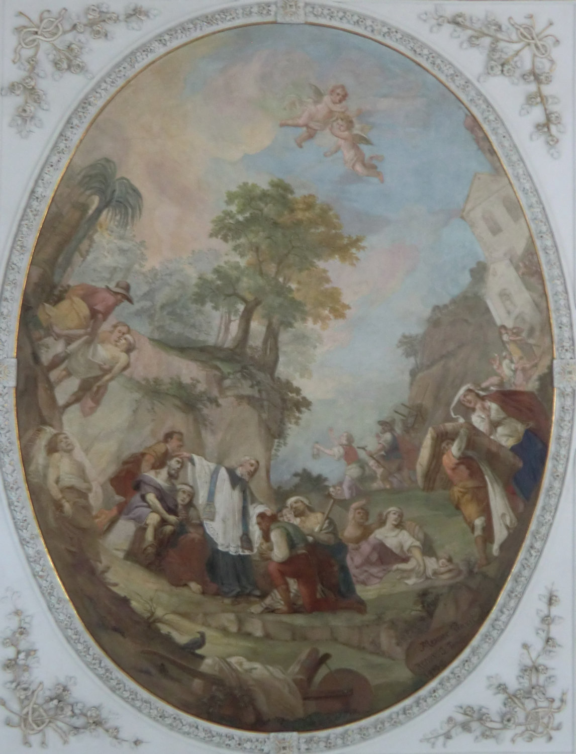 Joseph Anton Messmer und Johann Nepomuk Messmer: Deckenbild, 1798, in der Kirche in Beinwil