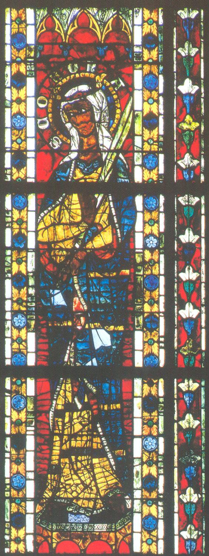 Glasfenster, um 1270, im Münster in Straßburg
