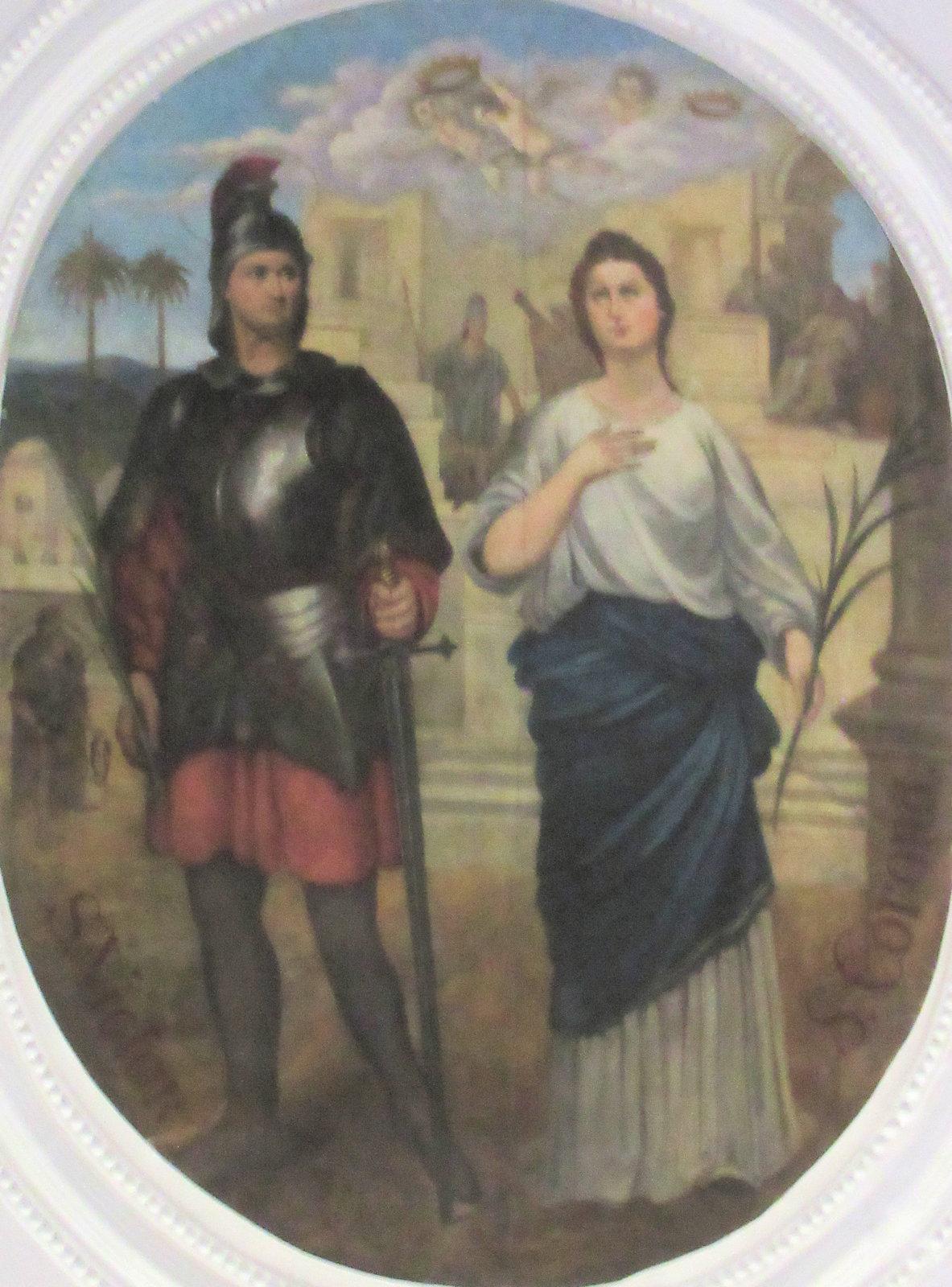 Fresko: Victor und Corona, in der Pfarrkirche in St. Corona am Wechsel