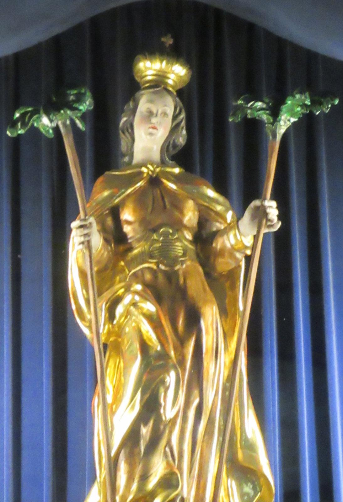 Statue, um 1859, am Hochaltar der Pfarrkirche in St. Corona am Wechsel