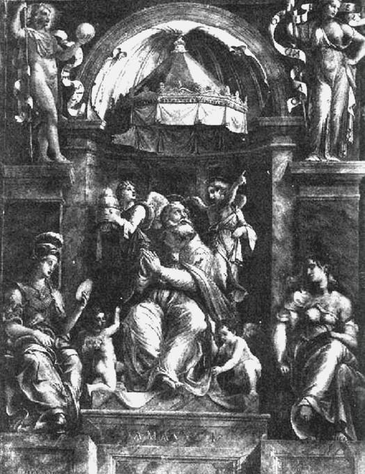 Raffael: Gemälde, in der Loggia des Damasus-Palastes im Vatikan