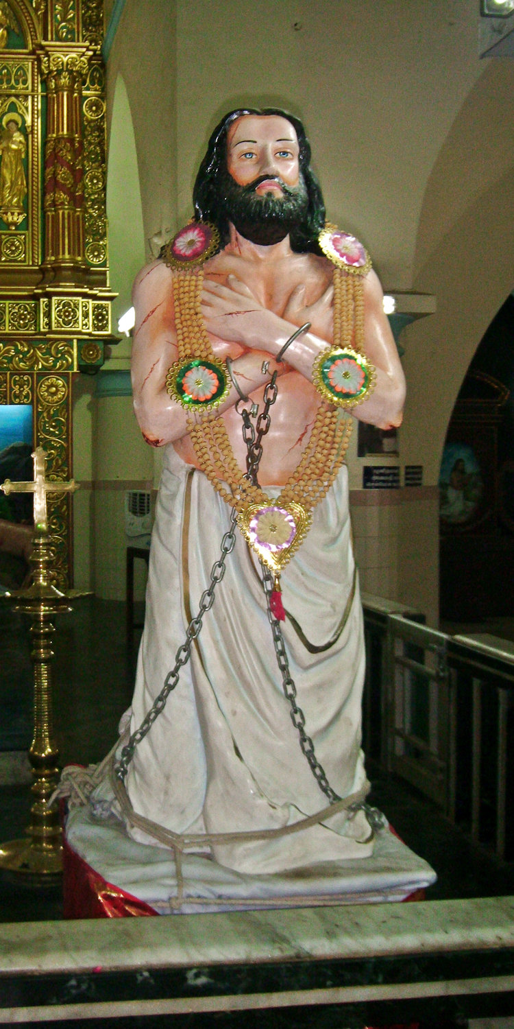 Statue in der Kathedrale in Nagercoil