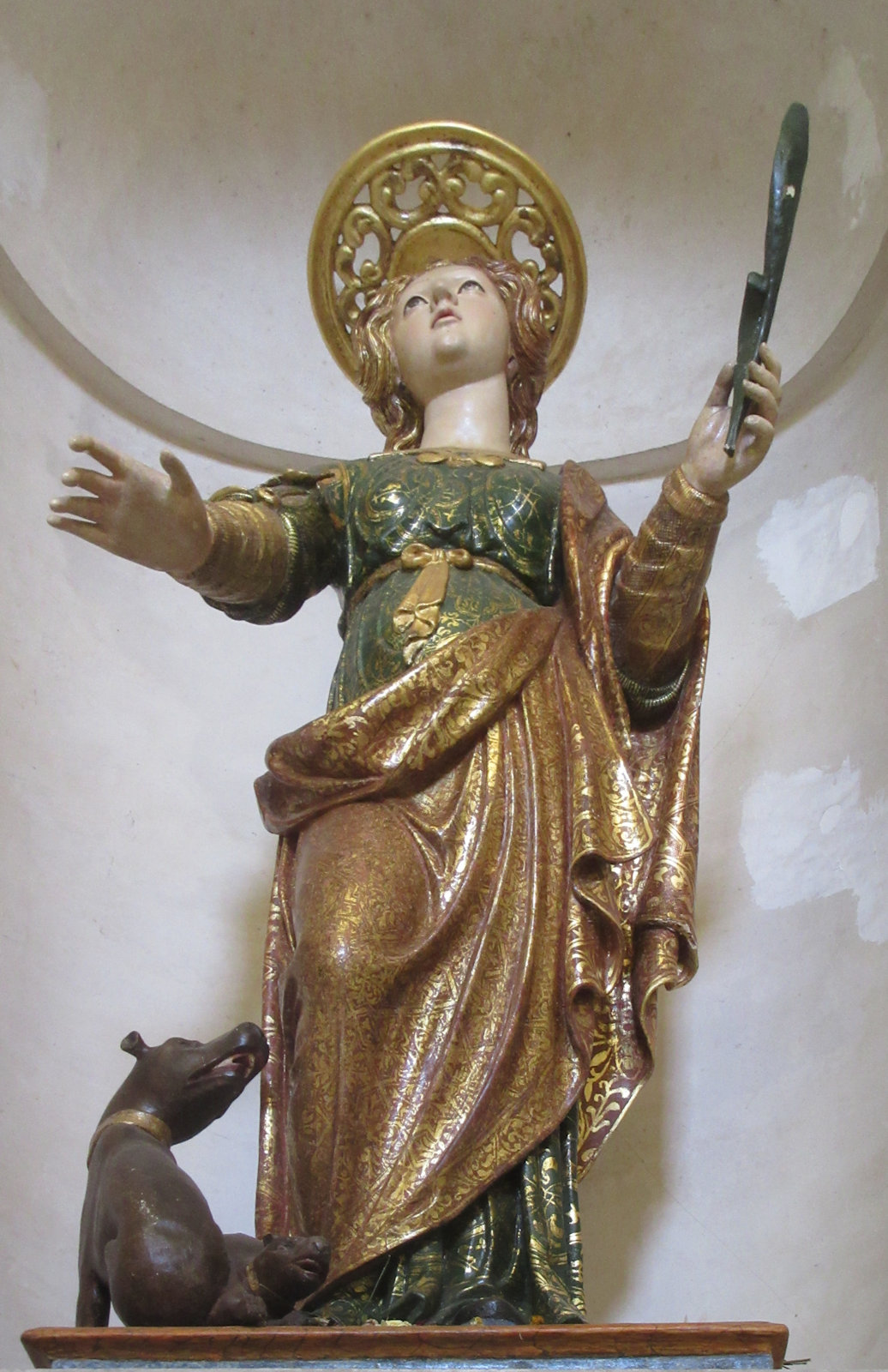 Statue in der Kathedrale in Tropea