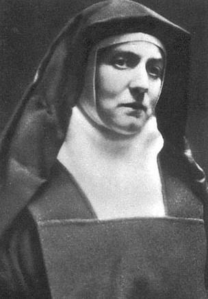 Teresia Benedicta vom Kreuz als Ordensfrau, angefertigt als Passfoto Ende 1938, kurz vor der Flucht nach Holland
