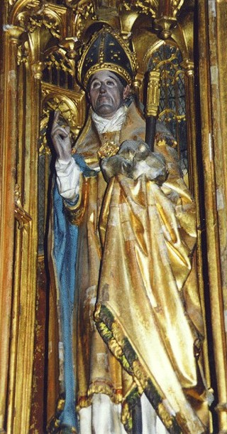 Statue in der Kirche in Ytterselö