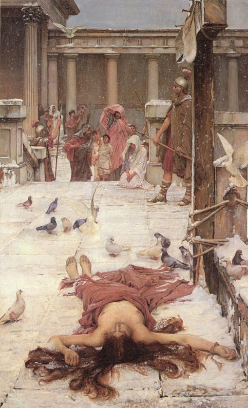 John William Waterhouse: St. Eulalia, um 1885, in der Tate Gallery in London