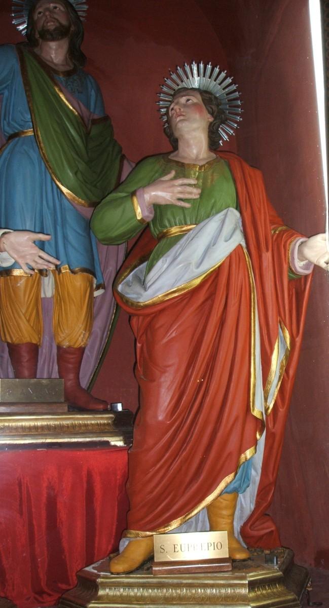 venezianische Schule: naive Statuen von Anthimus und Euprepius in der Kathedrale in Oria
