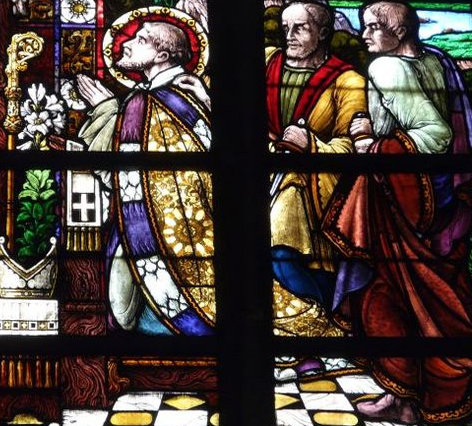 Glafenster, 1946, in der Kirche St. Martinus in Aalst