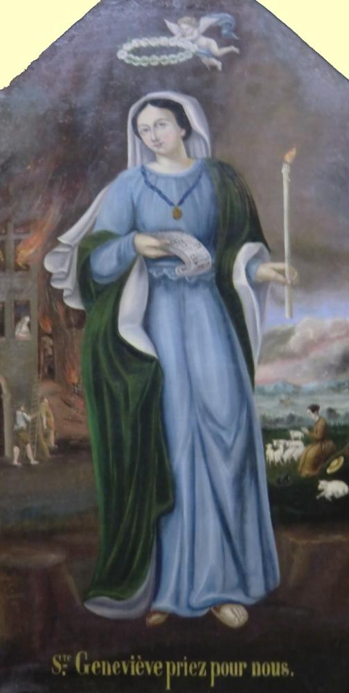 Bild, erste Hälfte des 19. Jahrhunderts, in der Stiftskirche St-Barnard in Romans-sur-Isère