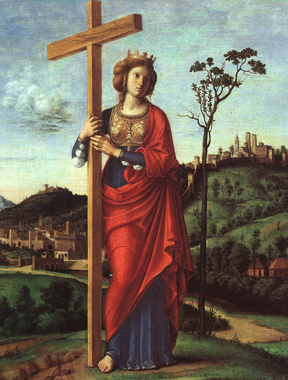 Cima da Conegliano: Helena mit dem Kreuz, 1495, in der National Gallery of Art in Washington
