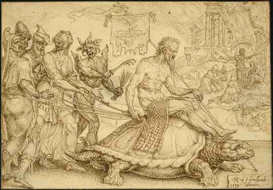 Maerten van Heemskerck: Der Triumph des Ijob, 1559, National Gallery of Art in Washington