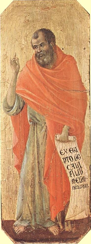 Duccio di Buoninsegna: Hosea, 1308 - 11, Museo dell'Opera del Duomo in Siena