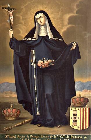 José Gil de Castro: die Heilige Isabel, 1820, Museo Colonial de San Francisco in Santiago in Chile