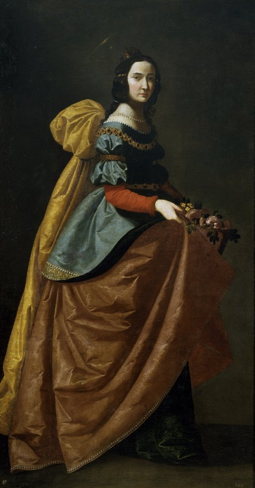 Francisco de Zurbarán: Elisabeth, um 1635, im Nationalmuseum del Prado in Madrid