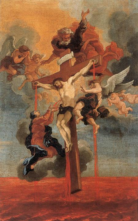 Gian Lorenzo Bernini: Christi Blut, im Palazzo Chigi in Ariccia  (nach Angaben von heiligenlexikon.de gemeinfrei)