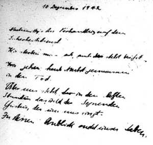 Jochen Kleppers letzte Tagebucheintragung vom 10. Dezember 1942