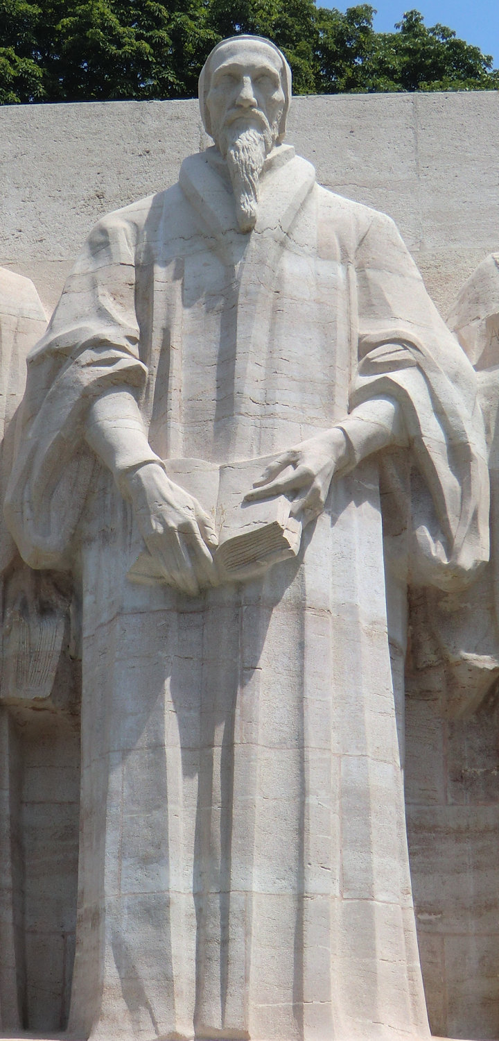 Calvin am Reformationsdenkmal in Genf