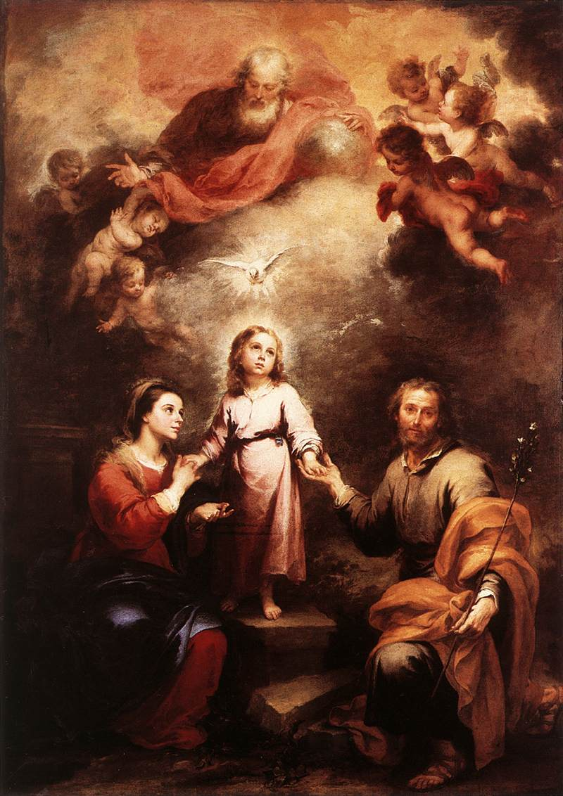 Bartolomé Esteban Murillo: Heilige Trinität mit Maria (links) und Joseph, 1675 - 1682, in der National Gallery in London
