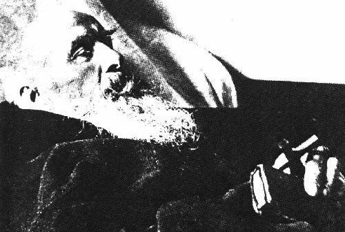 Konrad auf dem Totenbett, das einzige Originalfoto des Heiligen