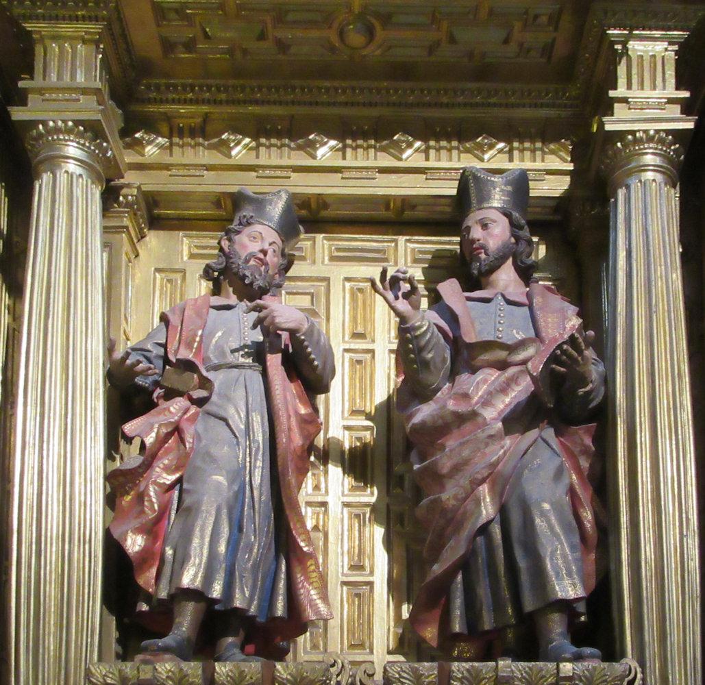 Gregorio Fernández (Werkstatt): Kosmas und Damian, 17. in der Kathedrale in Segovia