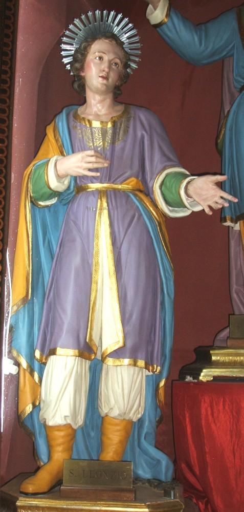 venezianische Schule: naive Statue von Leontius, in der Kathedrale in Oria