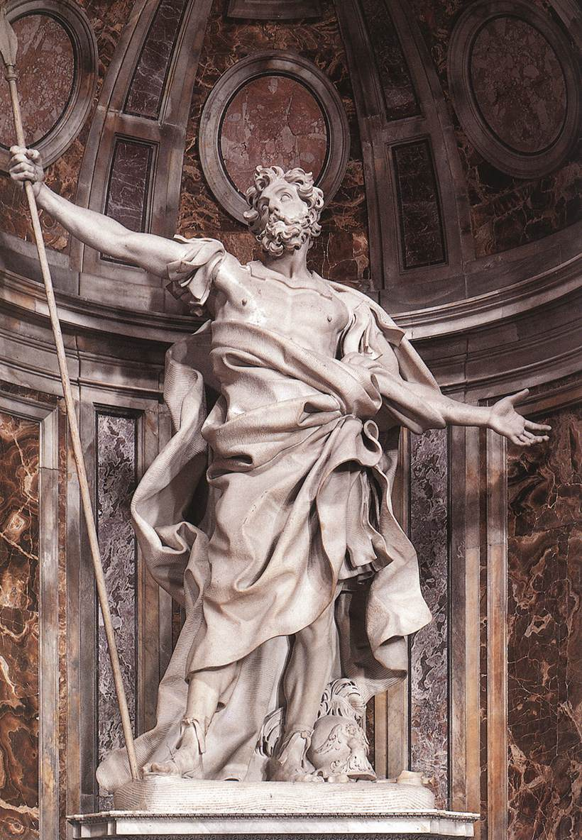 Gian Lorenzo Bernini: Marmorstatue, 1631-1638, in der Peterskirche in Rom