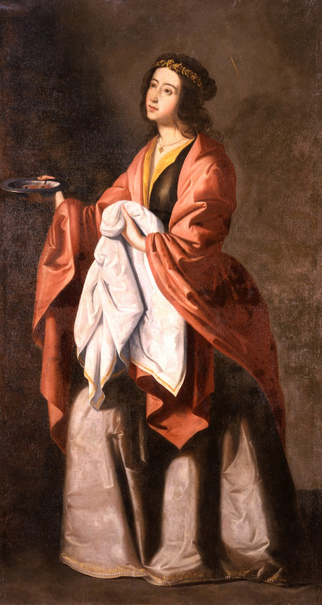 Francisco de Zurbarán: Santa Lucía, um 1648, Hispanic Society of America in New York