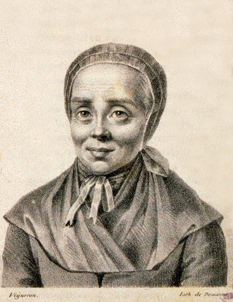 Demanne (Lithographie) / Vigneron (Entwurf): Luise Scheppler 1824, in der Bibliothèque nationale et universitaire in Straßburg