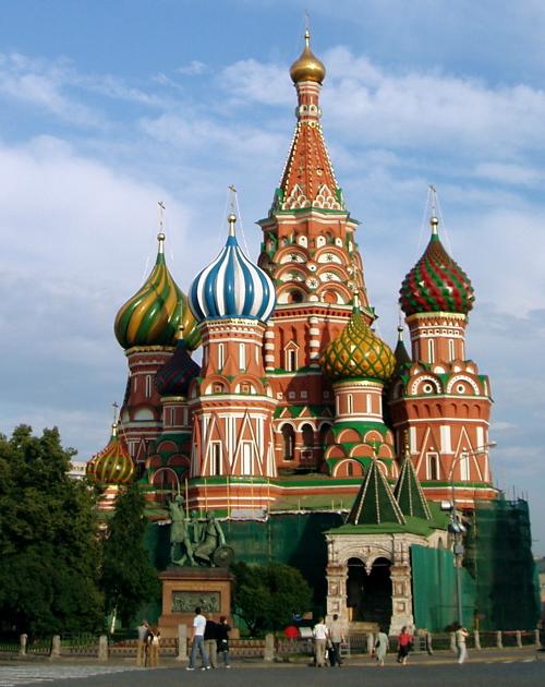 Die Maria-Schutz-und-Fürbitte-Kathedrale am Graben in Moskau