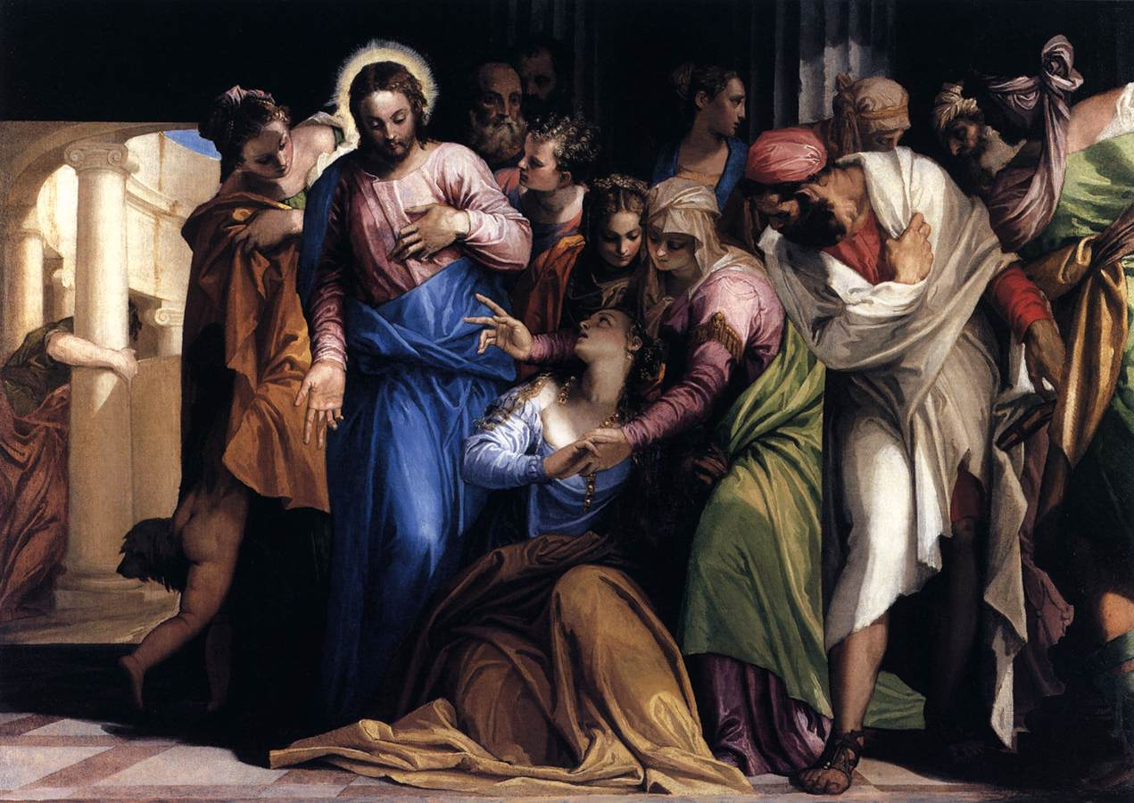 Paolo Veronese: Die Bekehrung der Maria Magdalena, um 1547, in der National Gallery in London