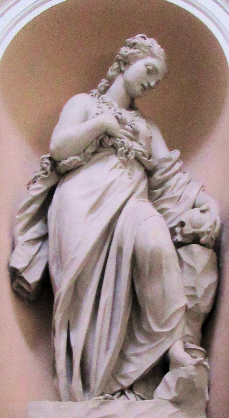 Statue in der Kirche San Bernardo alle Terme in Rom