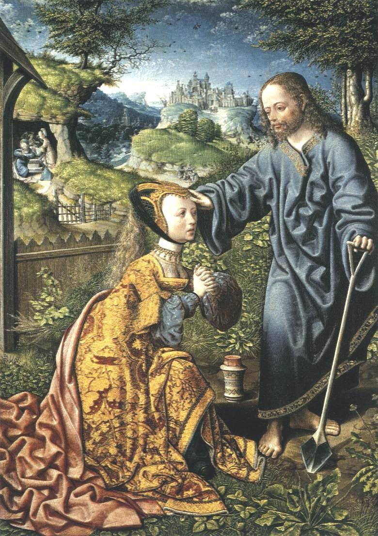 Jacob Cornelisz van Oostsanen: Christus erscheint Maria Magdalena als Gärtner, 1507, Staatliche Museen in Kassel