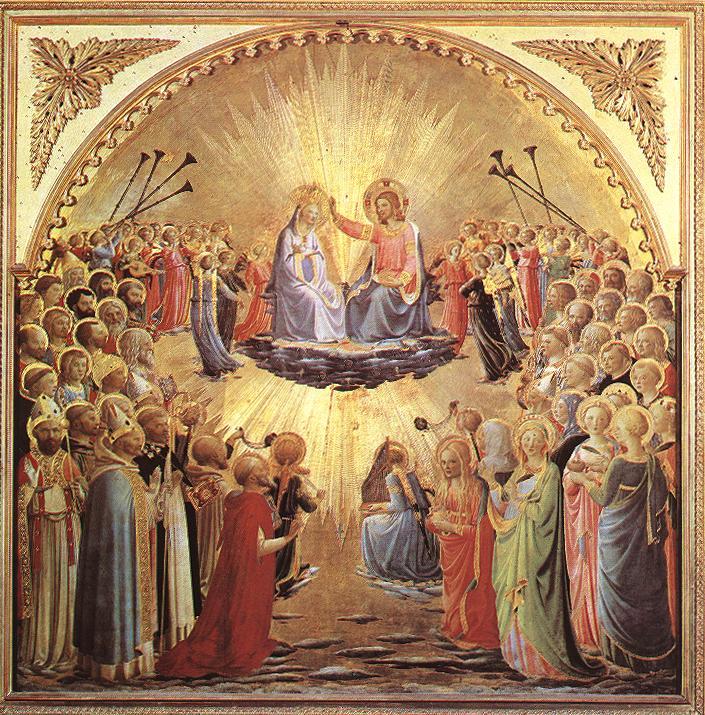 Fra Angelico: die Krönung der Maria, 1430 - 35, in der Galleria degli Uffizi in Florenz