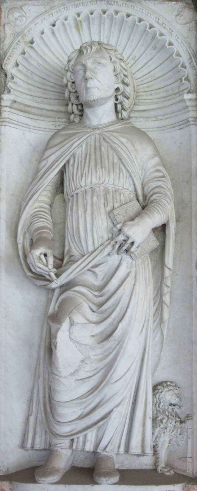 Relief, um 1485, im Kreuzgang der Basilika San Giovanni in Laterano in Rom