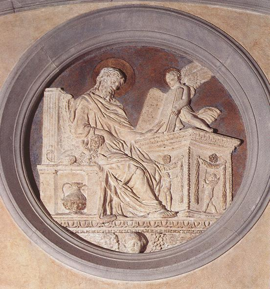 Donatello: Stuckrelief in der Sakristei von San Lorenzo in Florenz, 1428-43