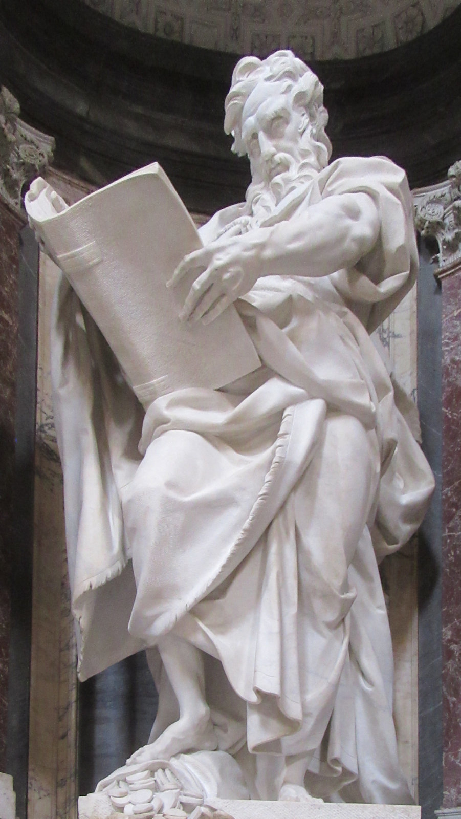 Camillo Rusconi: Statue, 1715, in der Basilika San Giovanni in Laterano in Rom