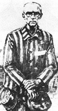 Gemälde: Kolbe als KZ-Häftling