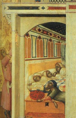 Ambrogio Lorenzetti: Der liebevolle Nikolaus, 1332, Musée du Louvre in Paris