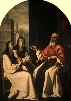Francisco de Zurbarán: Paula und Eustochia mit Hieronymus, um 1640/1650, National Gallery of Art in Washington