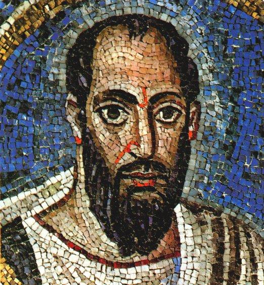Mosaik aus dem 5. Jahrhundert, im Oratorium St. Andrea im erzbischöflichen Museum in Ravenna