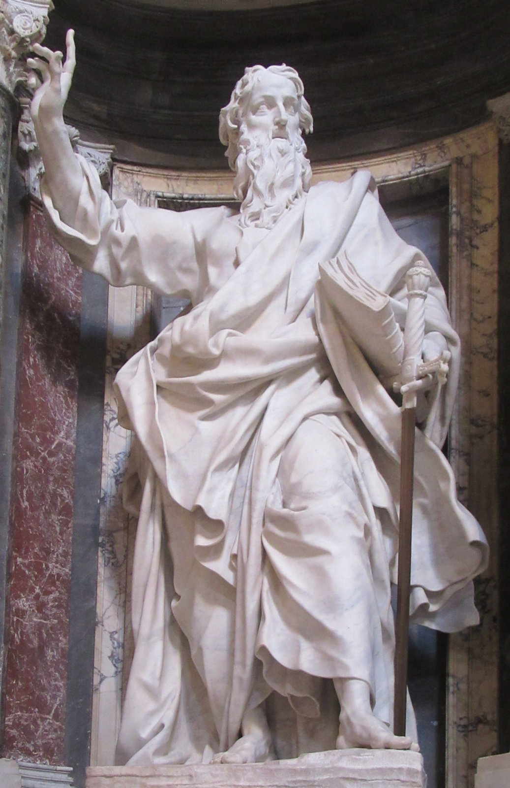 Pierre-Étienne Monnot: Statue, 1705 - 1711, in der Basilika San Giovanni in Laterano in Rom